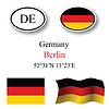 Vector clipart: germany icons set
