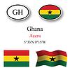 Vector clipart: ghana icons set