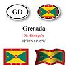 Vector clipart: greenada icons set