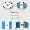 guatemala icons set