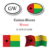 Vector clipart: guinea bissau icons set