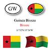 guinea bissau icons set