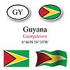 Vector clipart: guyana icons set
