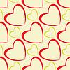 Vector clipart: hearts pattern design seamless