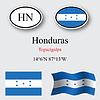 Vector clipart: honduras icons set