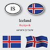 Vector clipart: iceland icons set