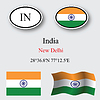Vector clipart: india icons set
