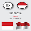 Vector clipart: indonesia icons set