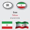 Vector clipart: iran icons set
