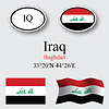 Vector clipart: iraq icons set