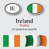 Vector clipart: ireland icons set