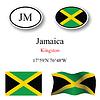 Vector clipart: jamaica icons set