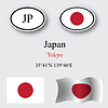 Vector clipart: japan icons set