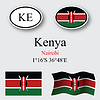 Vector clipart: kenya icons set