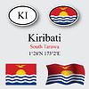 Kiribati icons set | Stock Vector Graphics