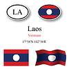 Vector clipart: laos icons set