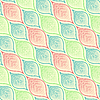 Vector clipart: leafy colorful pattern