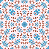Vector clipart: leaves geometric pattern