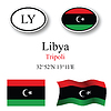 Vector clipart: libya icons set