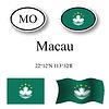 Vector clipart: macau icons set