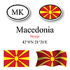 Vector clipart: macedonia icons set