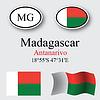 Vektor Cliparts: Madagaskar-Icons Set