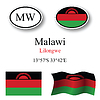 Vector clipart: malawi icons set