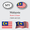 Vector clipart: malaysia icons set