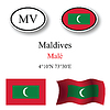 Vector clipart: maldives icons set