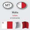Vector clipart: malta icons set