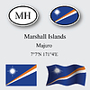 Vector clipart: marshall islands icons set
