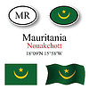 Vector clipart: mauritania icons set