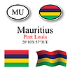 Vector clipart: mauritius icons set