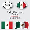Vector clipart: mexico icons set