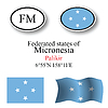 Vector clipart: micronesia icons set