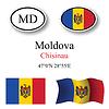 Vector clipart: moldova icons set