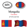 Vector clipart: mongolia icons set