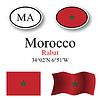 Vector clipart: morocco icons set