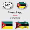 Vector clipart: mozambique icons set