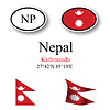 Vector clipart: nepal icons set