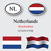 Vector clipart: netherlands icons set