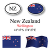 Vector clipart: new zealand icons set