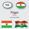 Vector clipart: niger icons set