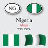 Vector clipart: nigeria icons set