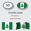 norfolk island icons set