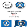 Vector clipart: northern mariana islands icons set