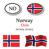 Vector clipart: norway icons set