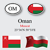 Vector clipart: oman icons set