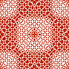 Vector clipart: orange monochromatic pattern