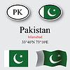 Vector clipart: pakistan icons set